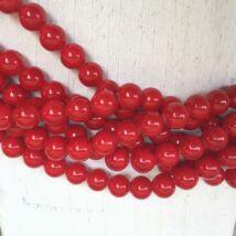 Ásványgyöngy - 8 mm - Piros Mashan Jáde