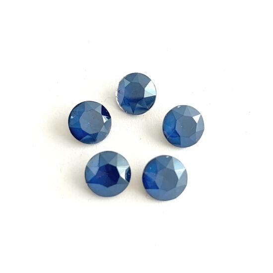Kristály - 10mm - kerek - kaboson - capri blue
