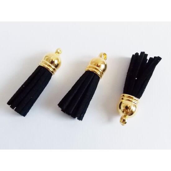 Bojt - Fekete színű hasított Bőr - arany gyöngysapkában rendelés 964d7df1af