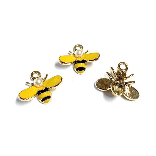 Medál - méh - ötvözött zománc - halvány arany