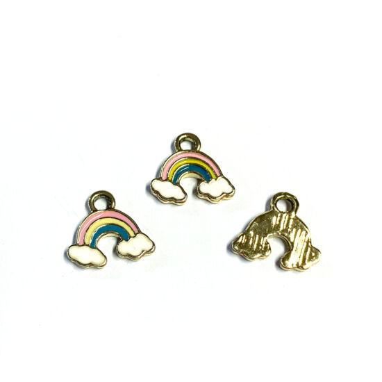 Medál - szivárvány - színes - ötvözött zománc - halvány arany