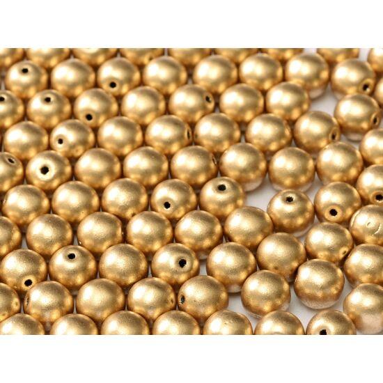 3mm AZTEC GOLD, Cseh Préselt golyó alakú gyöngy