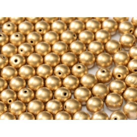 6mm Azték Arany színű, Cseh Préselt Golyó alakú gyöngy