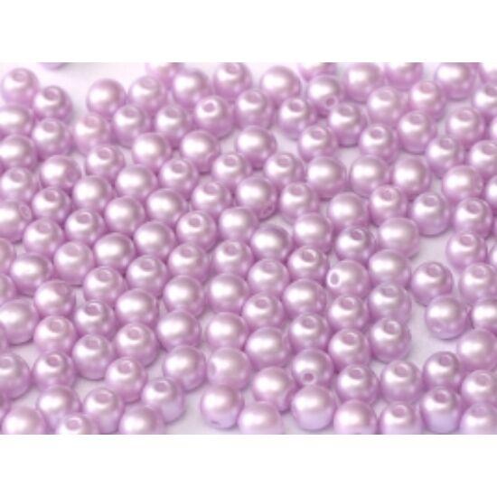 6mm Pasztell Világos Rózsaszín színű, Cseh Préselt Golyó alakú gyöngy