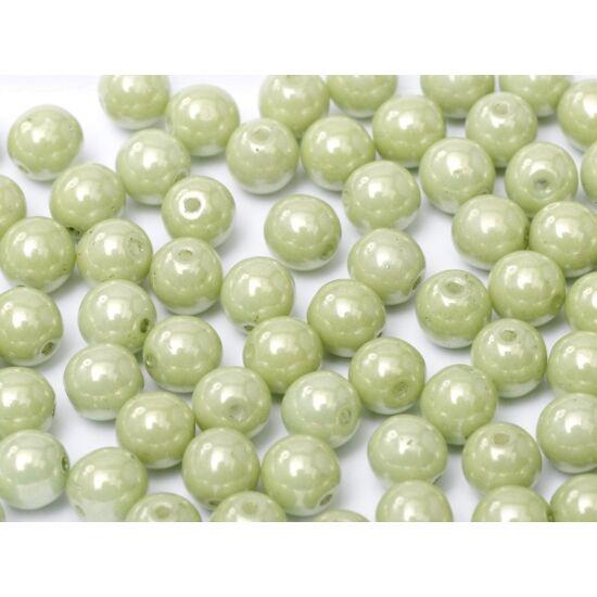 Csep Préselt gyöngy - 8mm - Halvány Gyöngyház Menta - 14457