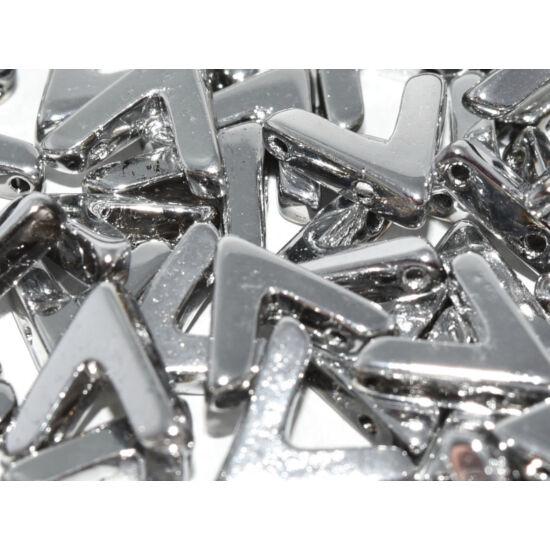 Ava - Cseh kézzel préselt 3 lyukú gyöngy - 10x4mm - CRYSTAL LABRADOR FULL - 00030/27000