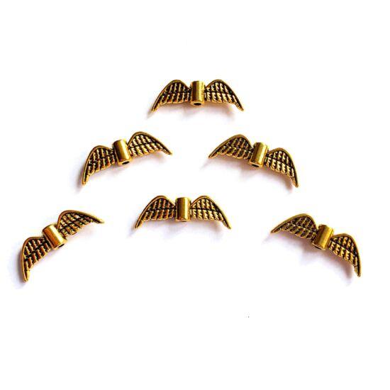 Medál- angyalszárny formában- antik arany színben