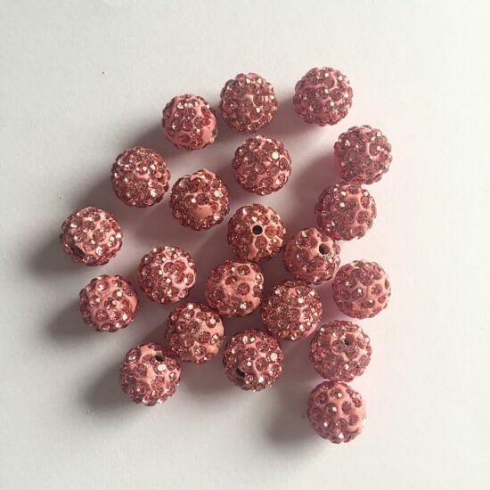 Rózsaszín színű shamballa gyöngy