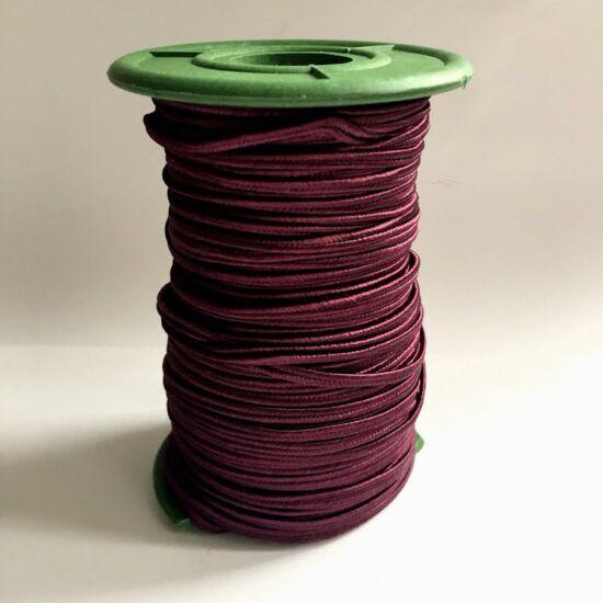 Sujtás zsinór-3mm Burgundy színű