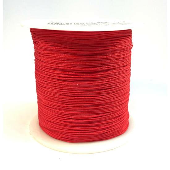 Makramé zsinór - 0,8mm - Piros színben - 1 tekercs