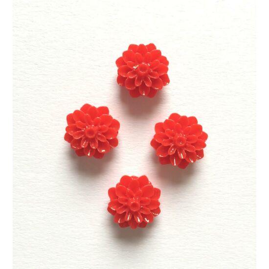 Rózsa gyanta virág, piros színben, ragaszthatós