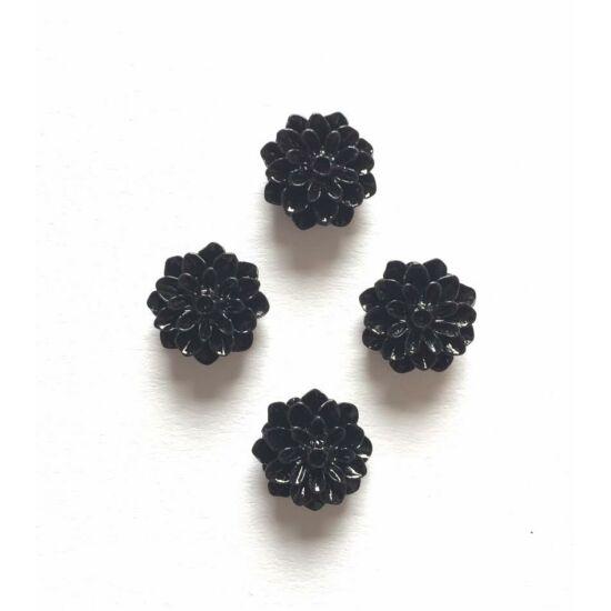 Rózsa gyanta virág, fekete színben, ragaszthatós
