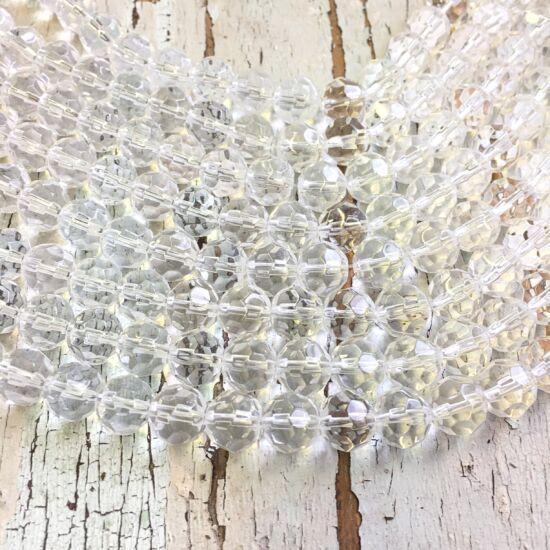 Üveggyöngy - áttetsző - csiszolt - gömb