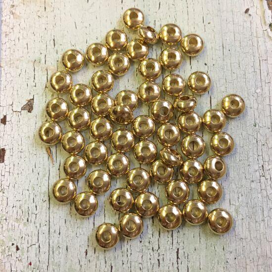 Köztes gyöngy - gyűrű formában - antik arany - kicsi