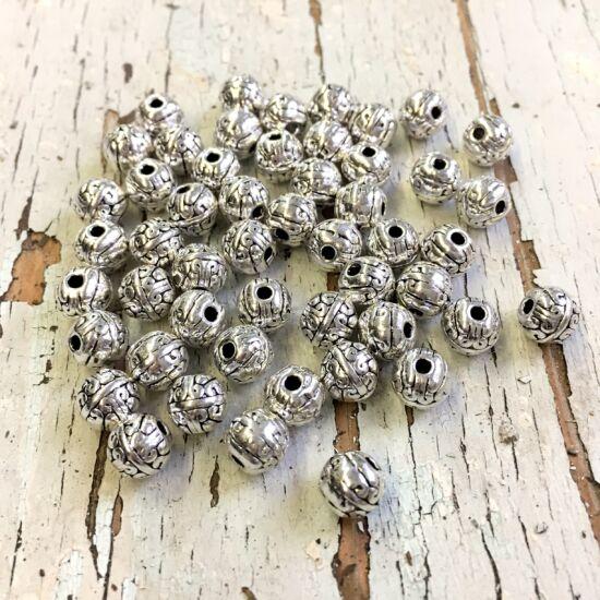 Köztes gyöngy- Inda motívummal- antik ezüst színben NIKKELMENTES!
