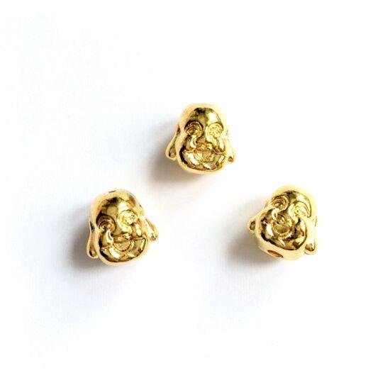 Buddha fej alakú gyöngy, arany színben