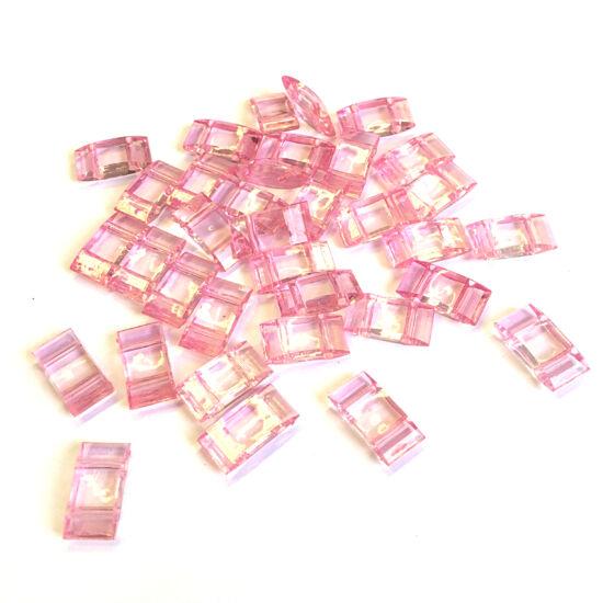 Carrier - áttetsző rózsaszín - műanyag gyöngy