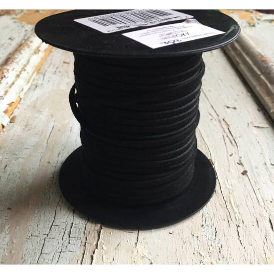 Bőr - 2,7x1,4 - hasított – Fekete méteres