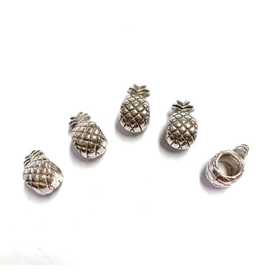 Köztes - távtartó - ananász alakú - antik ezüst színben