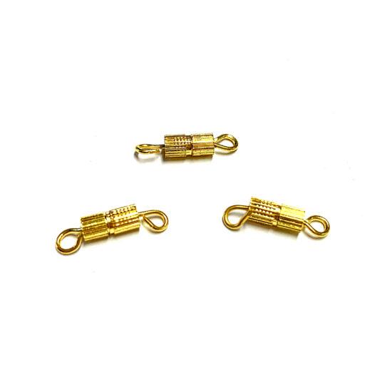 Ékszerkapocs – 14x4mm – csavaros – Arany színben – Nikkelmentes!