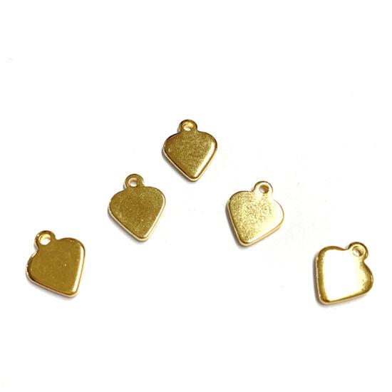 Medál – 304 Rozsdamentes acél – arany- szív