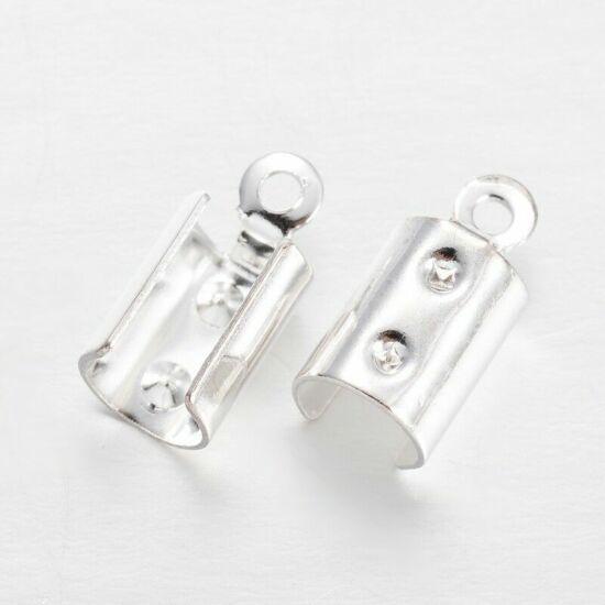 Bőrvégzáró – 10x5x3mm – ezüst színben