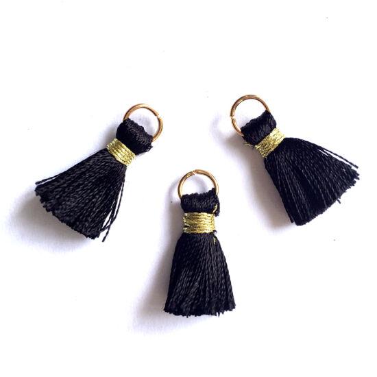 Bojt - fekets színű - arany szerelőkarikával