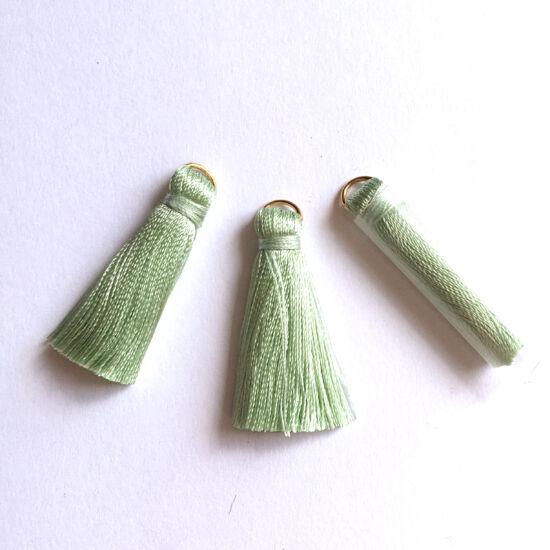 Bojt - menta színű - arany szerelőkarikával