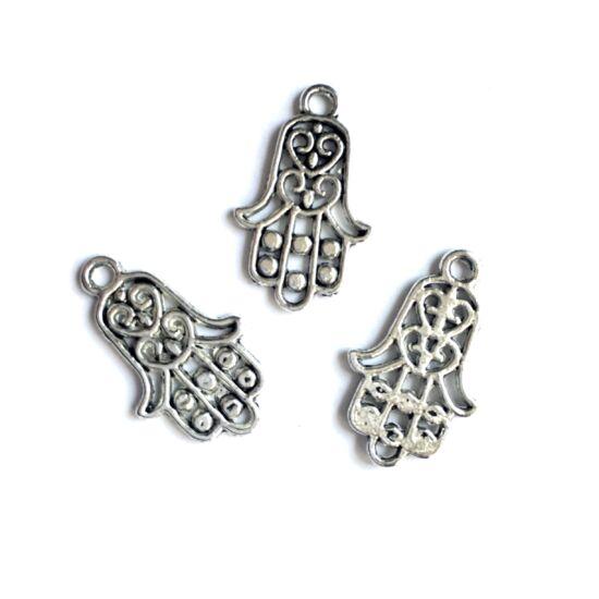 Medál- Fatima keze- antik ezüst színben
