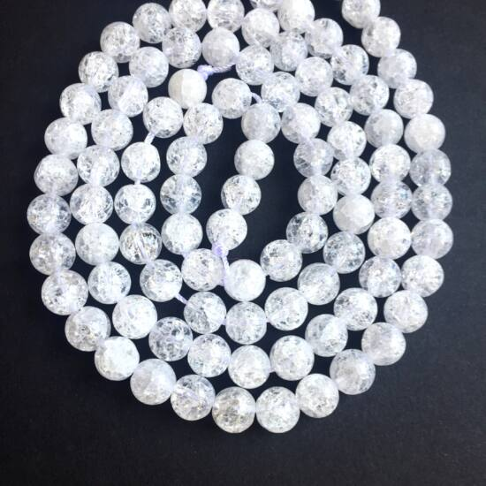 Ásványgyöngy - Hegyikristály - 8mm