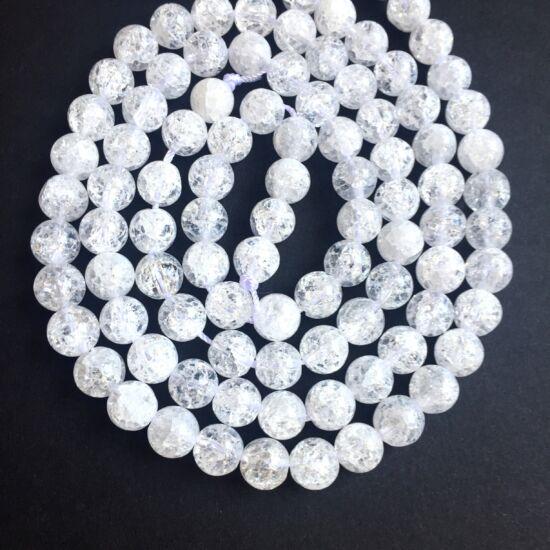 Ásványgyöngy - Természetes Hegyikristály - 8mm