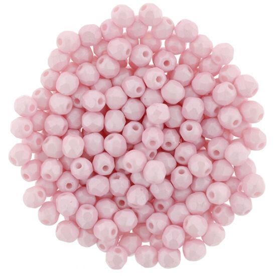 Cseh Csiszolt - 3mm - Powdery - Pastel Pink
