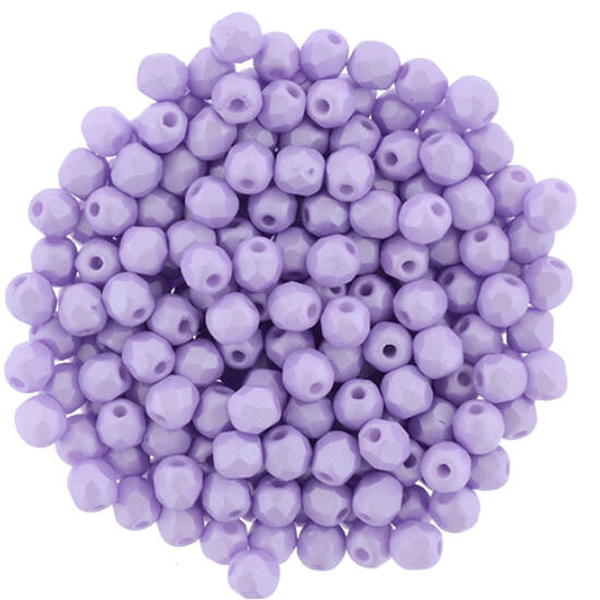 Cseh Csiszolt - 3mm - Powdery - Pastel Purple