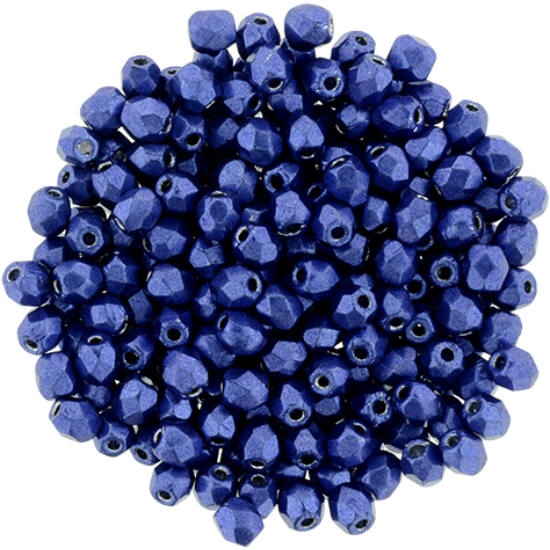 Cseh Csiszolt - 3mm - Saturated Metallic Lapis Blue