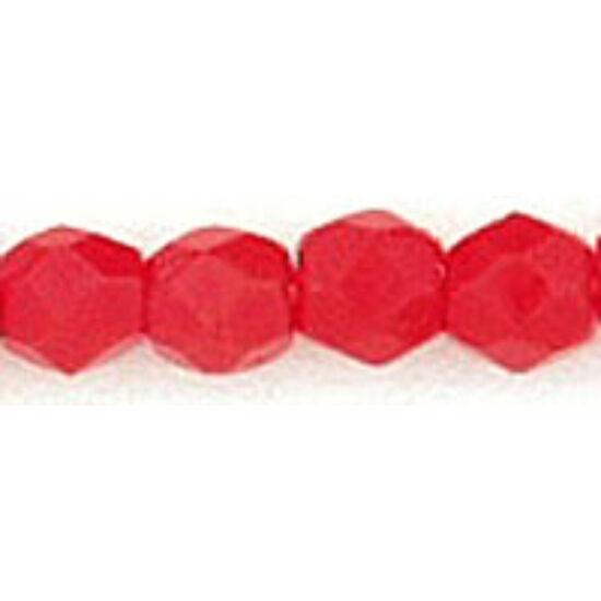 Cseh Csiszolt - 3mm - Opaque Red
