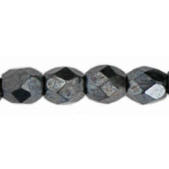Cseh Csiszolt - 4mm - Hematite - L23980