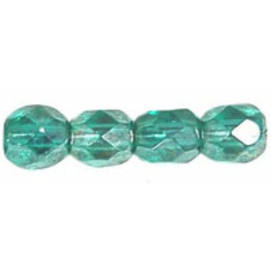 Cseh Csiszolt gyöngy - 4mm - Luster - Emerald