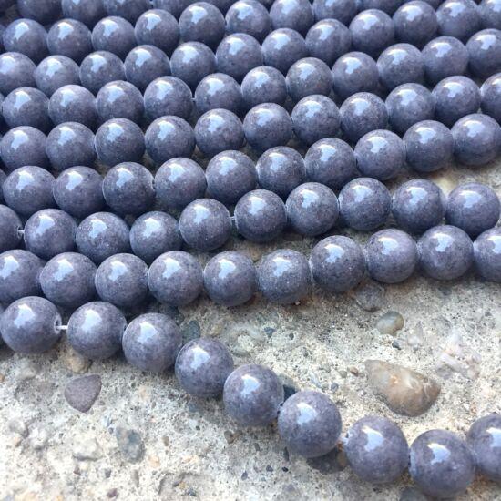 Ásványgyöngy- Masan Jáde- Szürke színben- 10mm