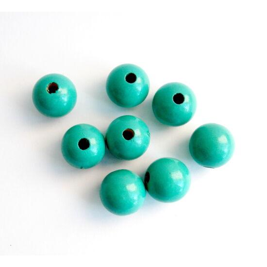 16mm Türkiz színű, gömb alakú fagyöngy