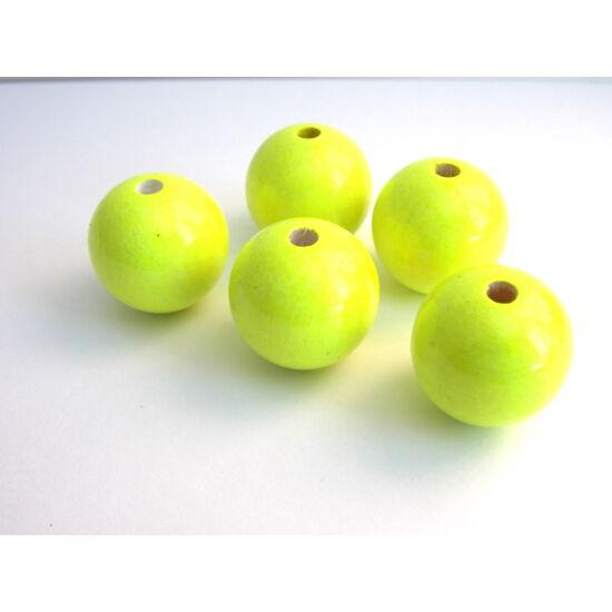 25mm Neonsárga színű, gömb alakú fagyöngy