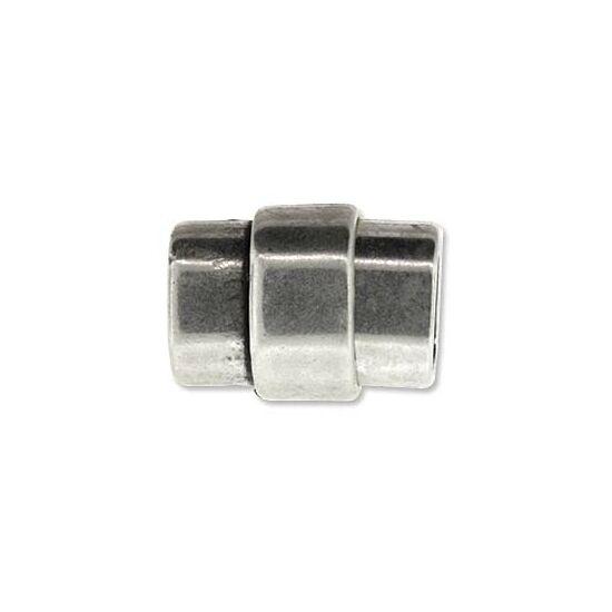 Mágneskapocs - 19x15mm - Regaliz bőrhöz - antik ezüst színben