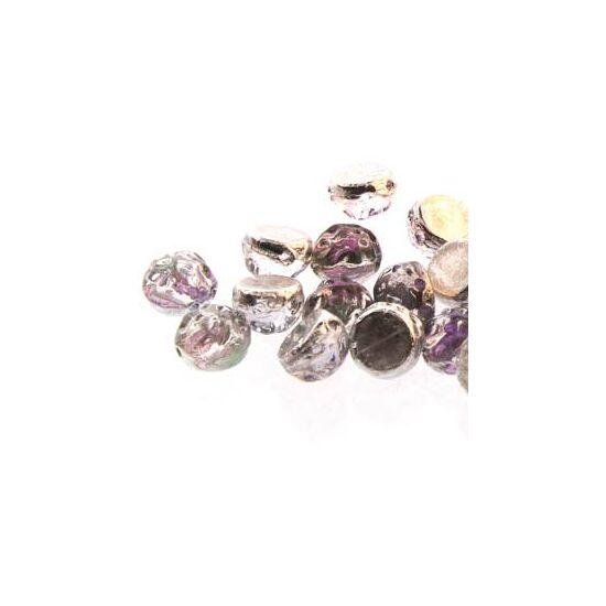 2-LYUKÚ CABOCHON - 7 MM - BACKLIT PINK MIST - 29536