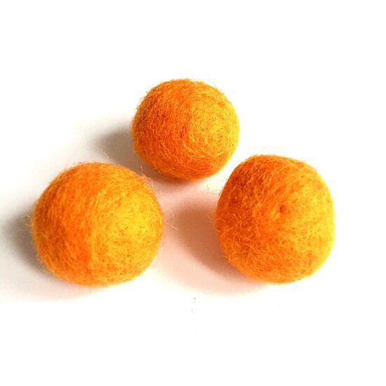 Filc golyó- Narancs színben
