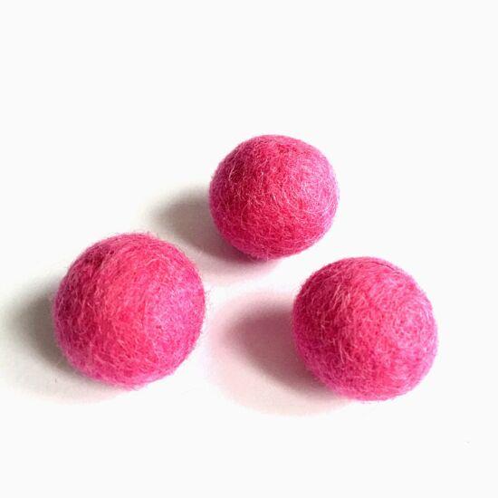 Filc golyó- Pink színben