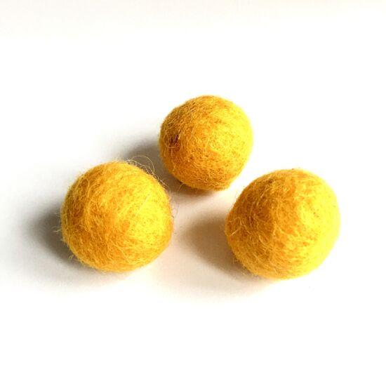 Filc golyó- Indiai sárga színben