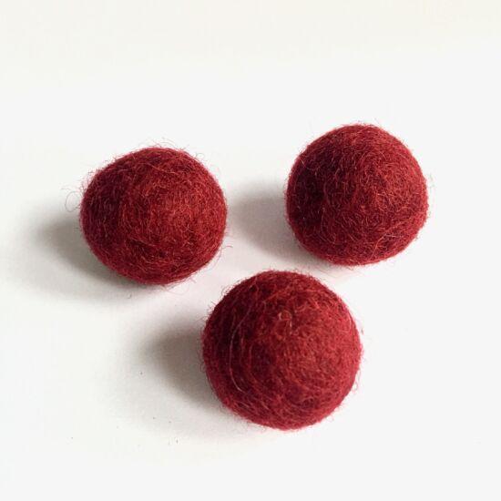 Filc golyó- Piros színben