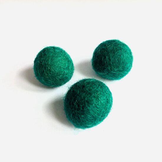 Filc golyó- Emerald (zöldeskék) színben
