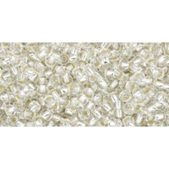 Toho kásagyöngy - 15/0 - Silver-Lined Crystal