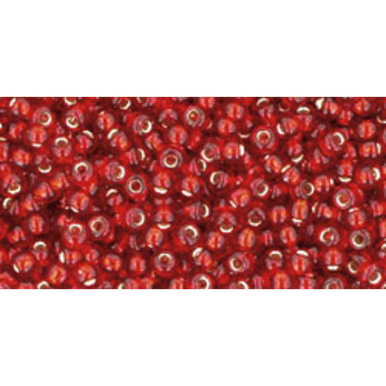 Toho kásagyöngy - 11/0 - Silver-Lined Ruby