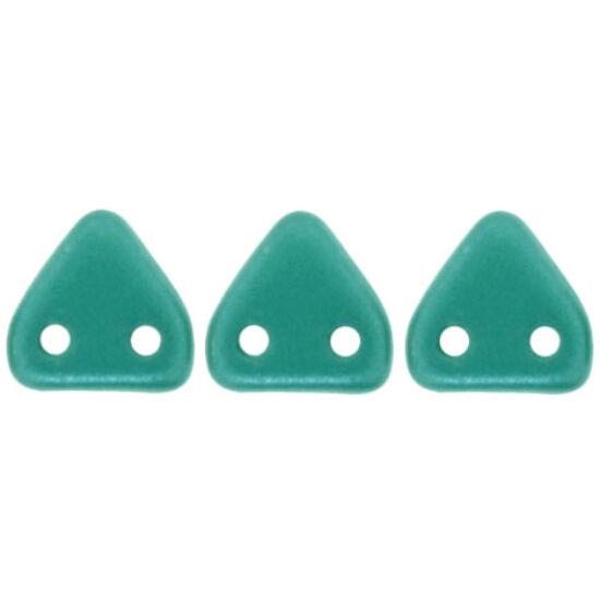 6mm Pearl Coat - Teal, kétlyukú Triangle-háromszög gyöngy